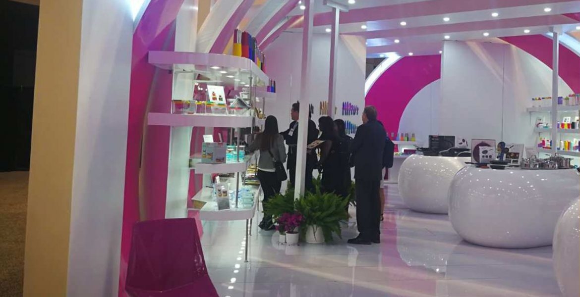 Svilen Gamolov » Booth design for Karim Rashid, IHHS Chicago 2018